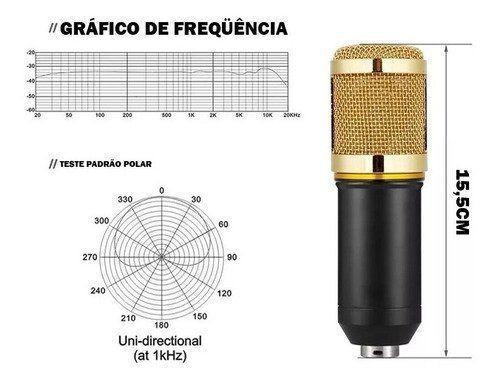 Microfone Condensador Dourado Tomate Mt-1025