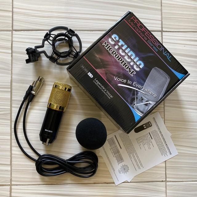 Microfone de Estúdio Condensador Profissional