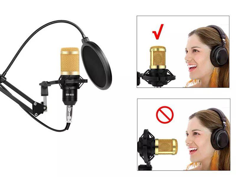 Microfone Estúdio Profissional Condensador - Youtuber