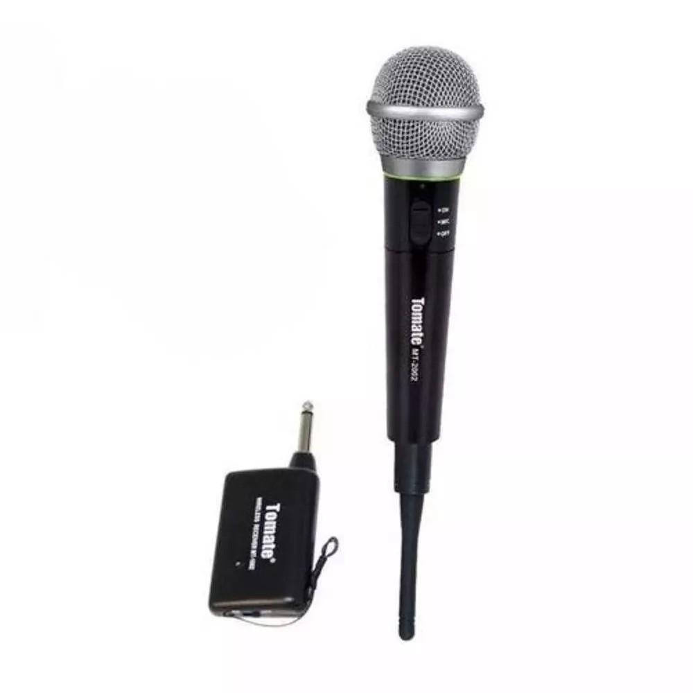 Microfone Profissional MT-2002 sem Fio - Tomate