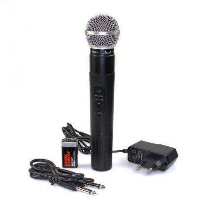 Microfone sem fio com Antena 610 - 630 MHz interna Profissional Knup KP 910