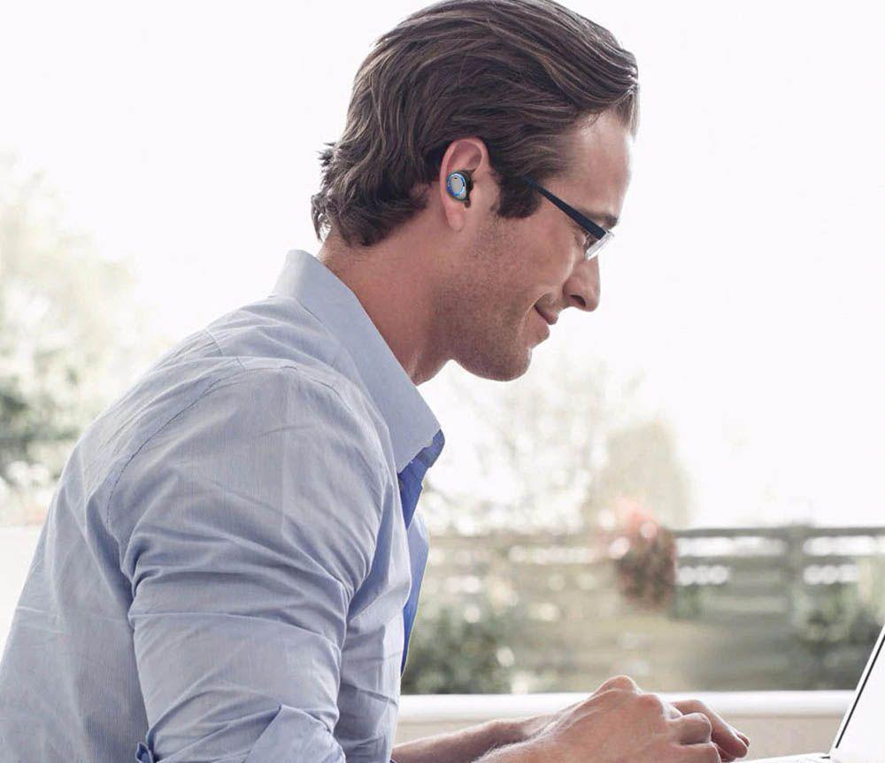 Mini Fone Bluetooth Sem Fios Headset TWS com Case Awei T3