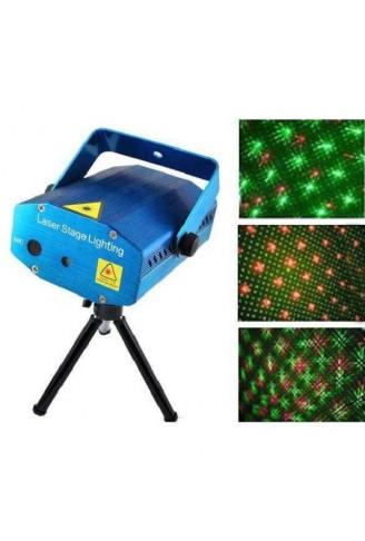 Mini Laser Projetor Holográfico Canhão Laser Festas Efeitos Luz