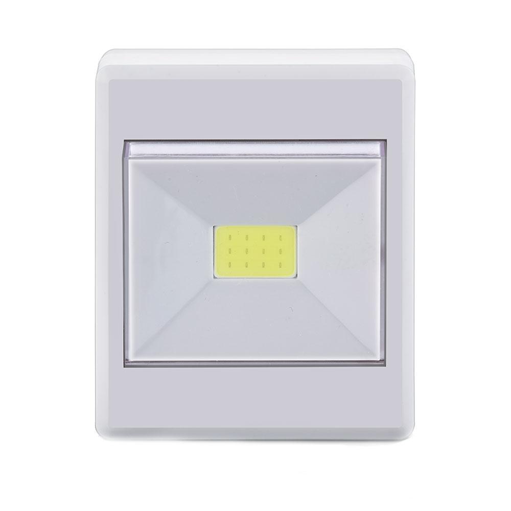 Mini Luminaria LED Botão A Pilha 3W Luz Branca - Elgin