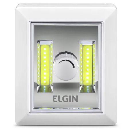 Mini Luminária LED Regulável a Pilha 3W - Luz Branca - Elgin