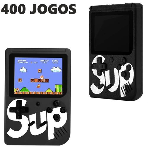 Mini Vídeo Game Retro Portátil - 400 Jogos NES Clássico - Sup Game Box