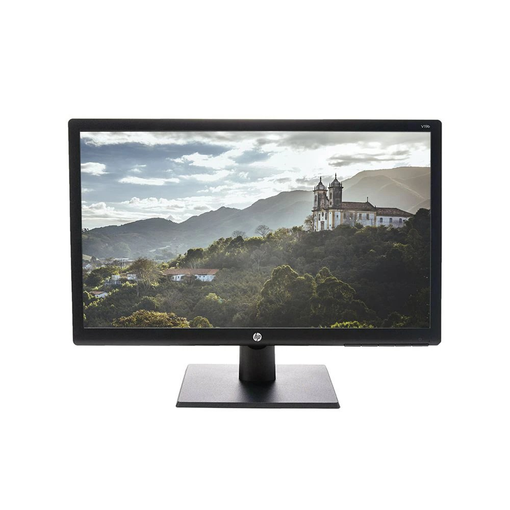 Monitor Hd/Vga 18,5 Polegadas Led 1366 x 768 Hd Widescreen  Vesa Hp V19b