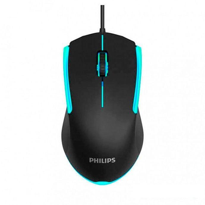 Mouse Gamer 1200 Dpi 3 botões Iluminação De 7 cores Usb 2.0 Com Fio Philips Momentum G314