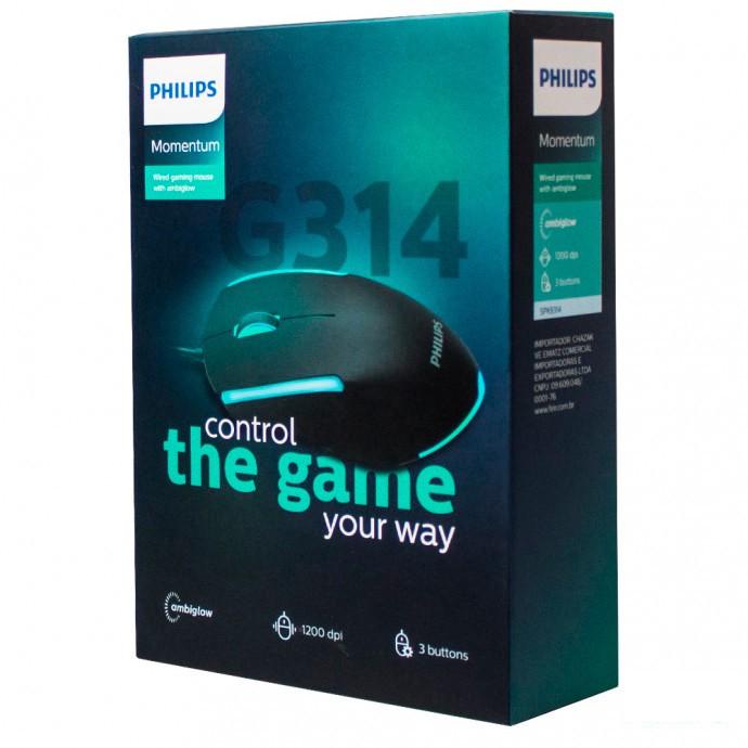 Mouse Gamer com Fio G314 Momentum - Philips