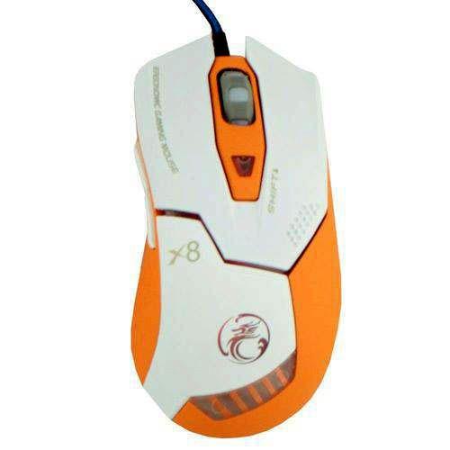 Mouse Gamer 2400dpi 6 Botões X8 Estone Asimov Branco