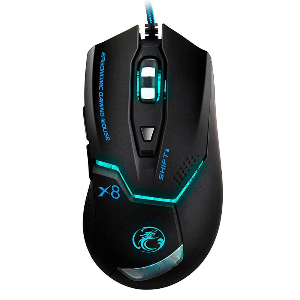 Mouse Gamer X8 Design Ergonômico 2400 DPI - Estone