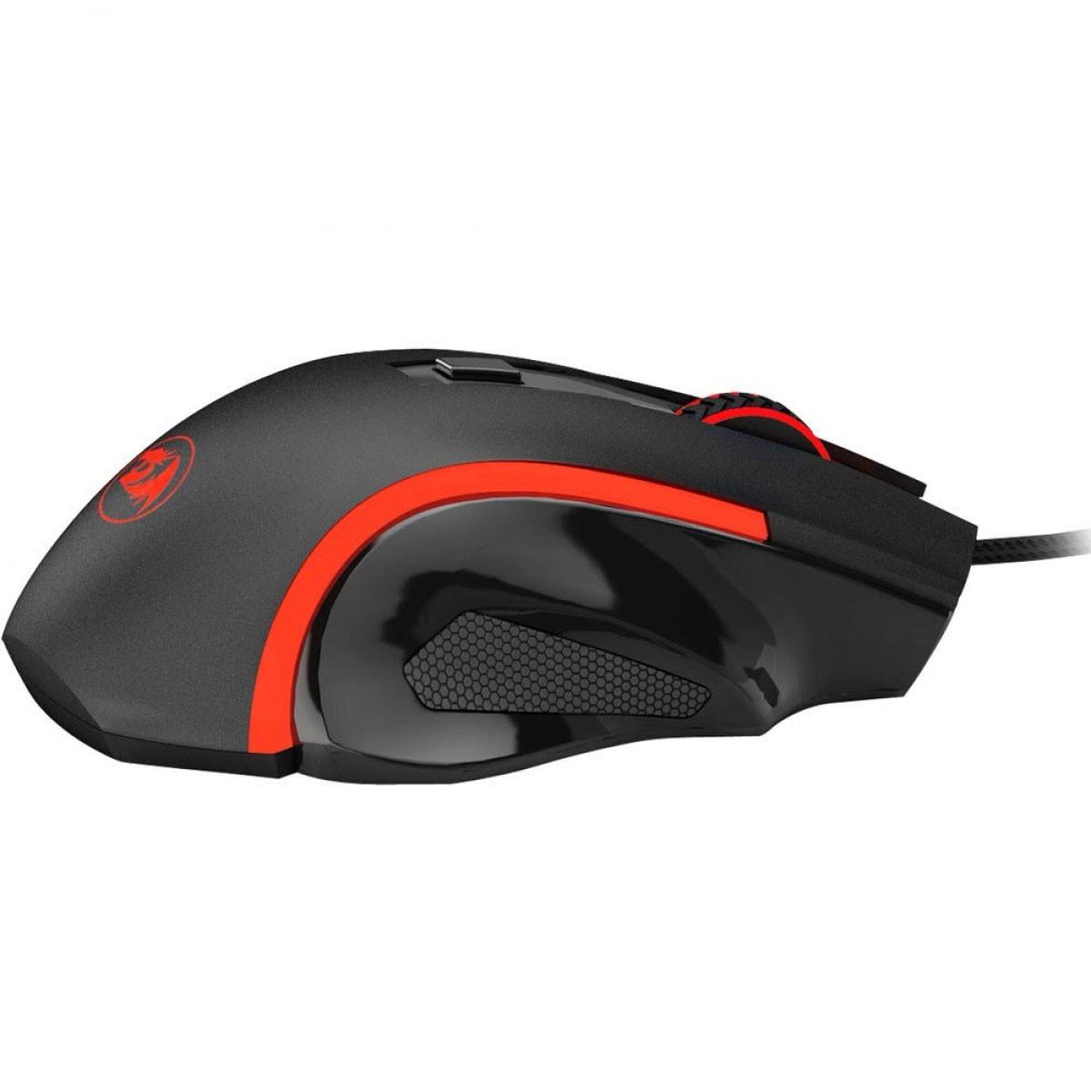 Mouse Gamer Nothosaur M606 Preto 3200 DPI - Redragon