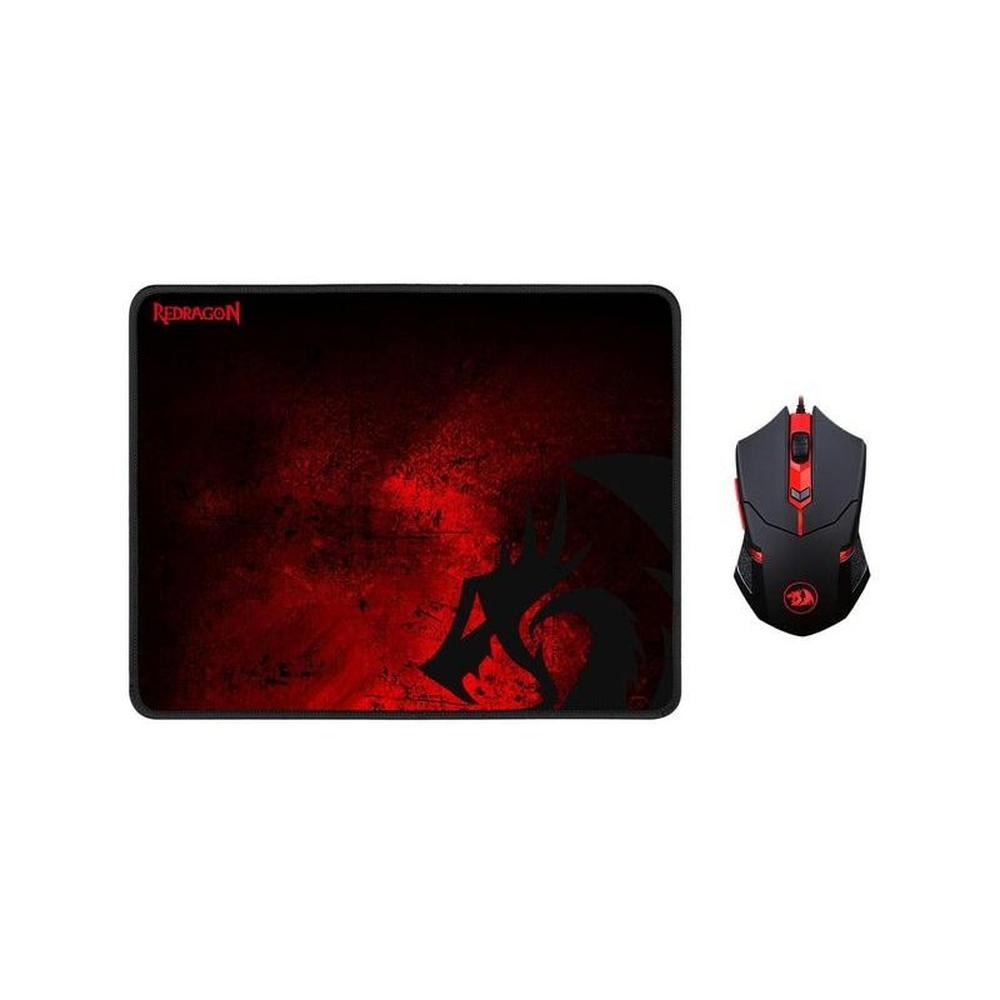 Mouse Gamer Redragon 3200 DPI LED Vermelho, Mousepad Control Medio - M601-BA