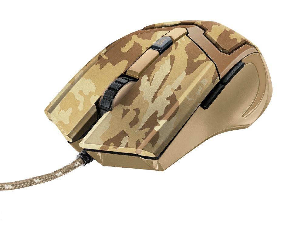 Mouse Gamer Trust Gxt 101D Gav 4800Dpi Desert Camo T22794