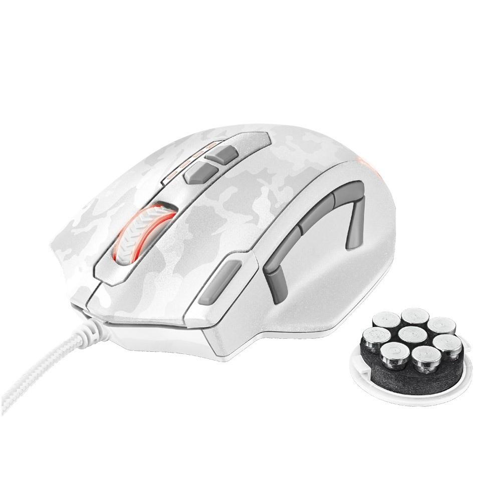 Mouse Gamer Usb Caldor White Camuflagem Led Rgb 4.000  dpi Trust Gxt 155w