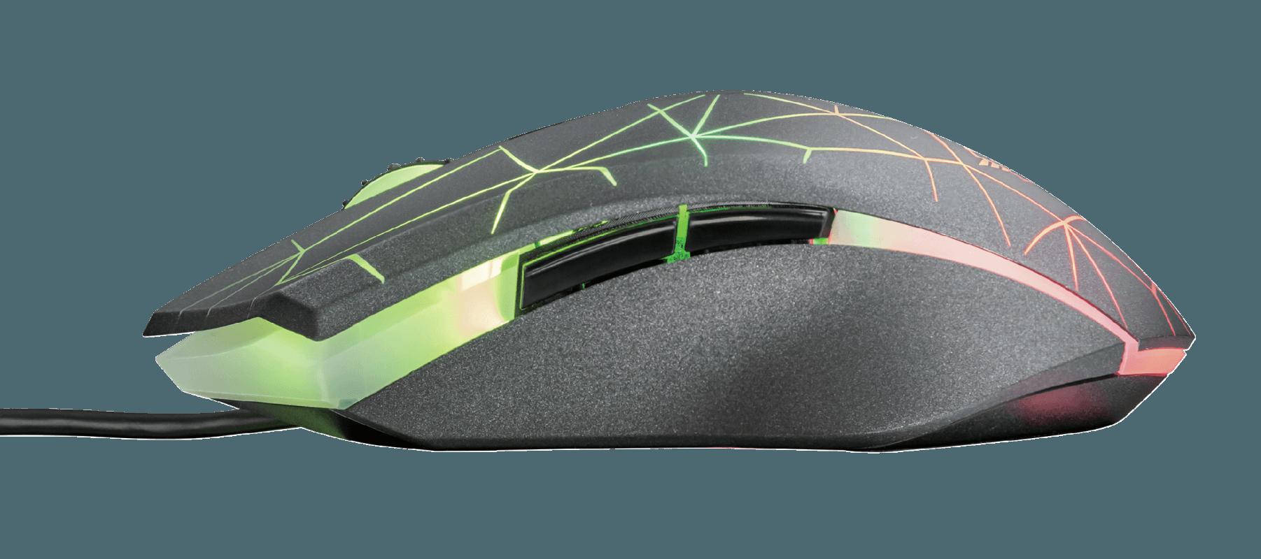 Mouse Gamer Usb Rgb Cabo 1,80 m Iluminação Led ajustável 500 - 7.000 Dpi Gxt 170 Trust Heron