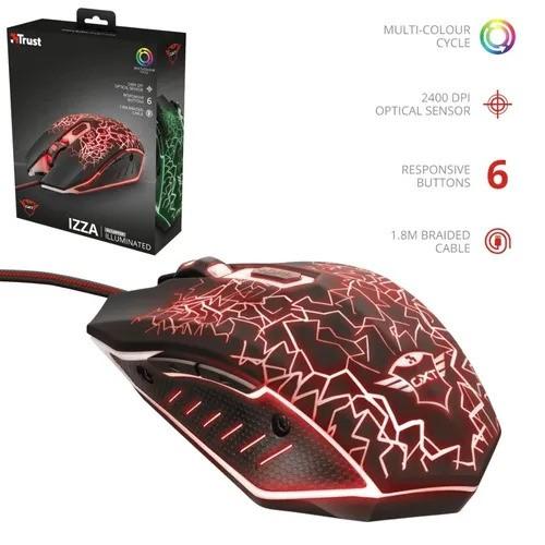 Mouse Gaming Izza Trust Gxt 105 800-2400 dpi Cabo entrançado 1,8 m