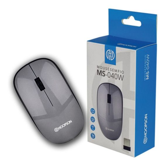 Mouse Sem Fio com Mini Receptor Usb 1000 Dpi Hoopson Ms-040w