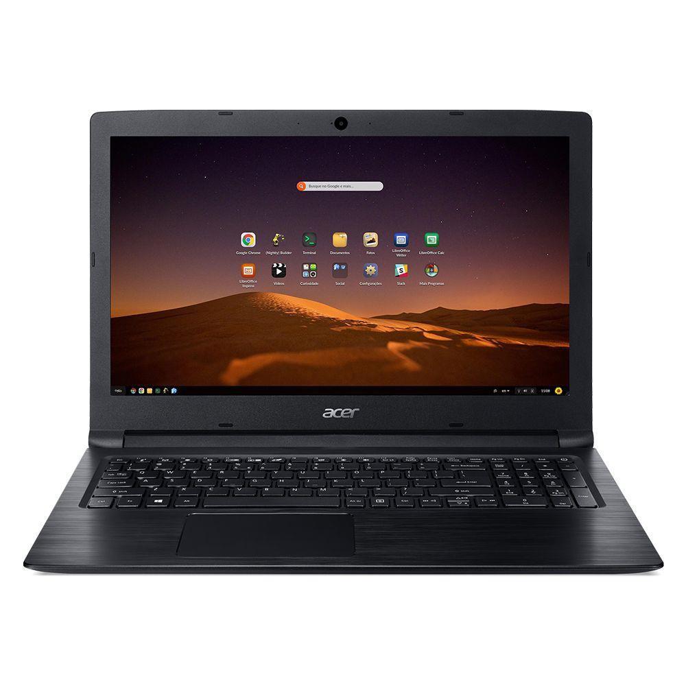 Notebook Acer A315-53-3470 Intel Core I3 6006u 4gb 1tb 15,6 Endless OS (Linux) Preto