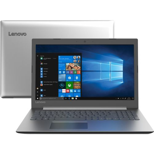 Notebook Ideapad 330 7ª Intel Core i3 4GB 1TB W10 HD 15.6'' Prata - Lenovo