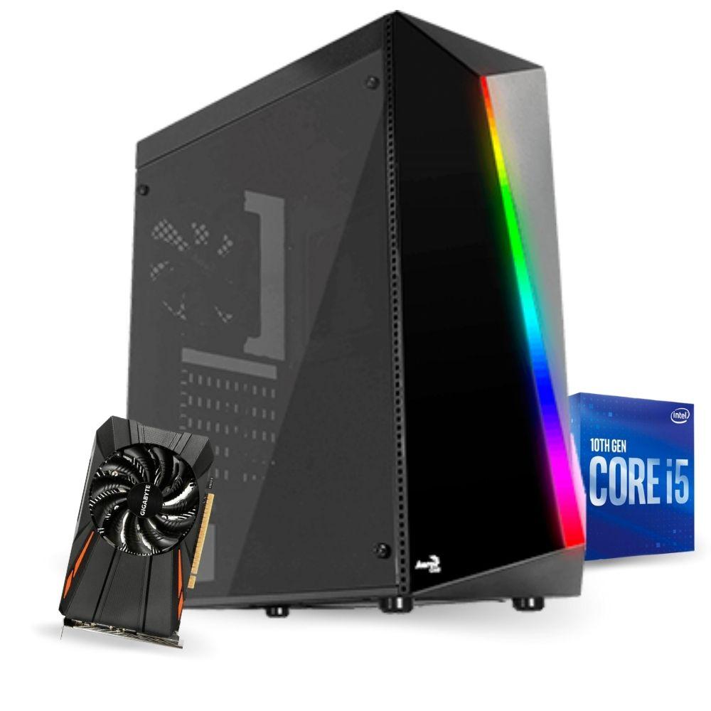PC Gamer 10ª Geração - I5 10400F - GTX 1050Ti 4GB - 8GB RAM - SSD 480GB - 500W