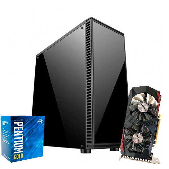 PC Gamer 10ª Geração - Intel G6400 Gold - GTX 750TI - 8GB RAM - SSD 120GB