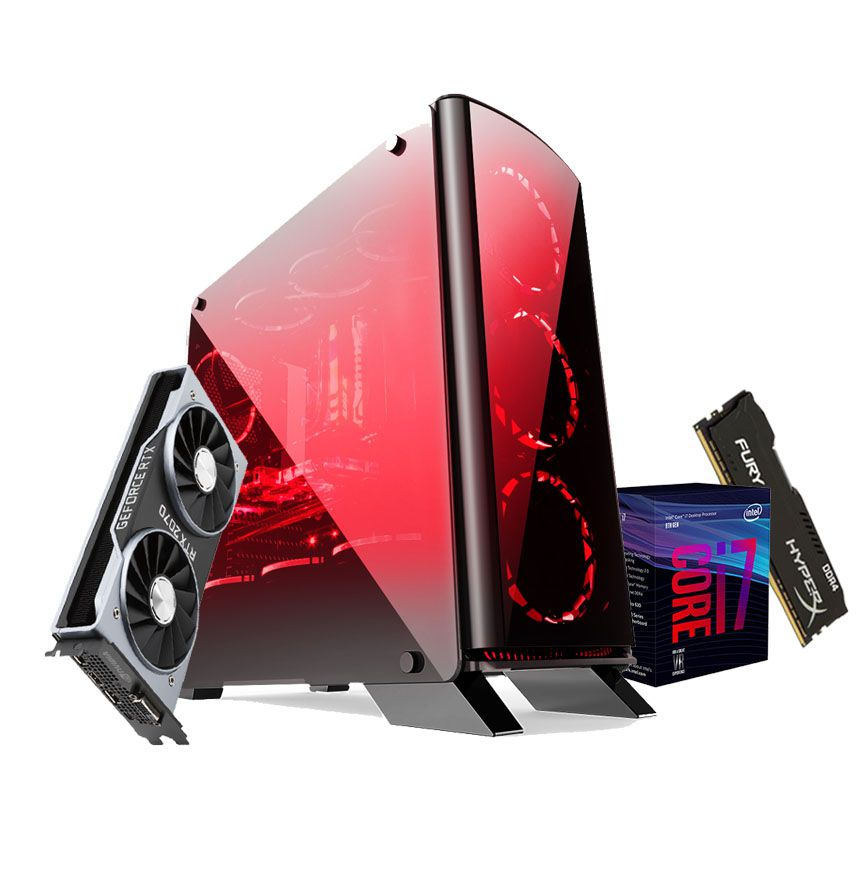PC Gamer i7 8700k - RTX 2070 8gb - 16Gb DDR4 SSD 480gb
