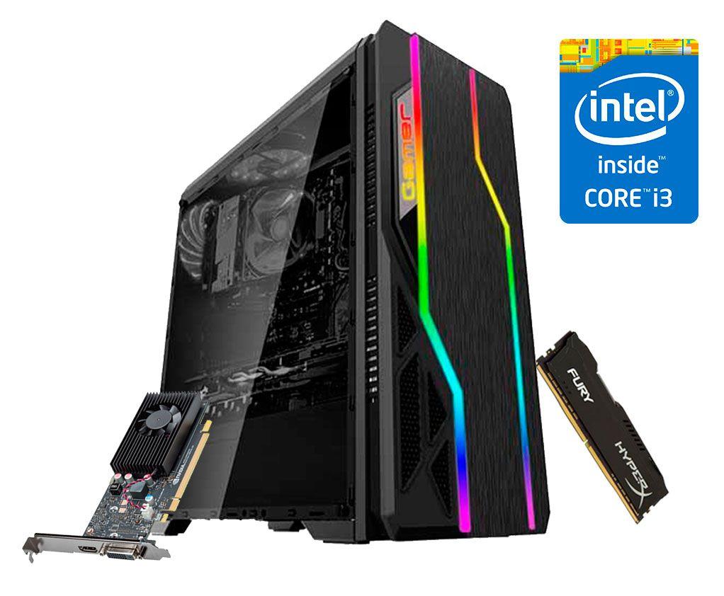 PC Gamer 2ª Geração - i3 2100 - GT 1030 2GB - 8GB RAM - SSD 120G