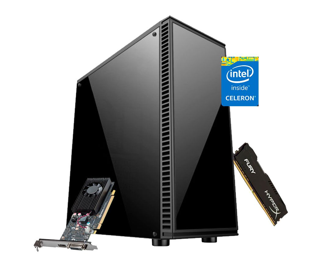 PC Gamer J3455 Quad - GT 1030 2Gb - 8Gb DDR3 - SSD 120Gb - 230W