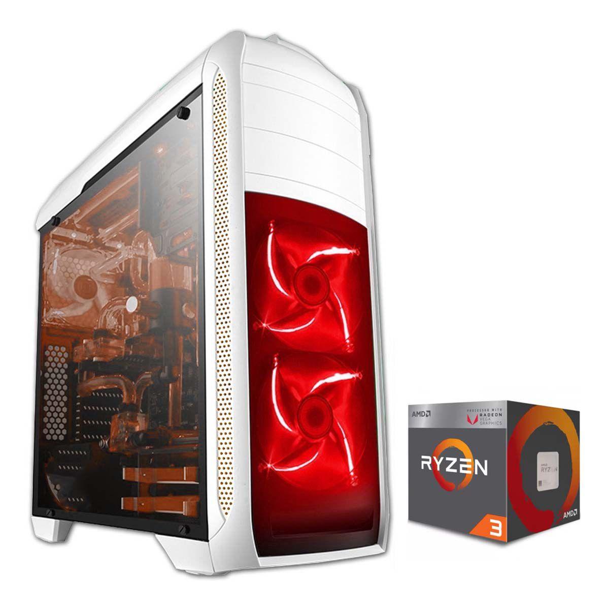 Pc Gamer Ryzen 3 2200g - RX 550 4gb - 8gb Ram - SSD 120Gb - 500W
