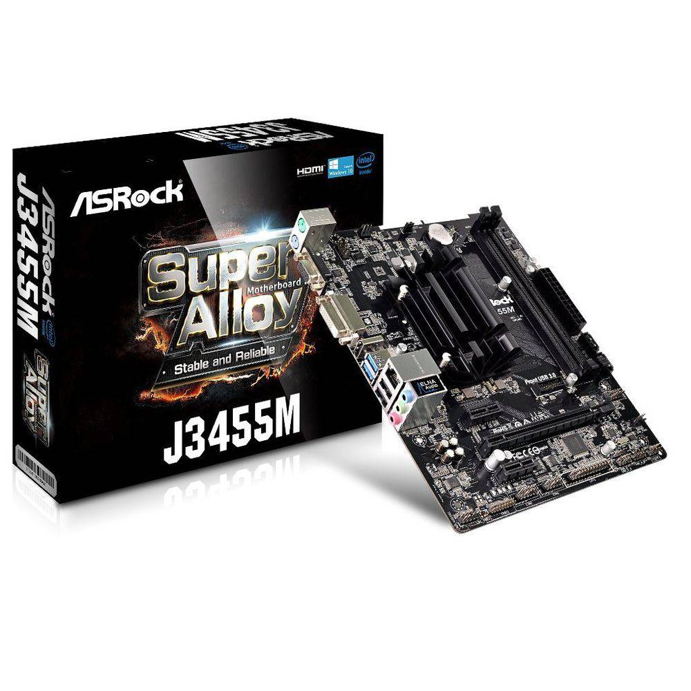 Placa Mae Asrock J3455m-atx Intel 4 Core