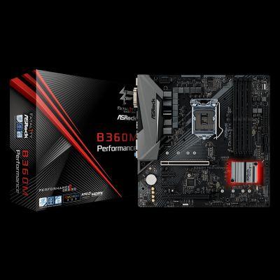 Placa Mãe B360M Performance LGA 1151 DDR4 - ASRock