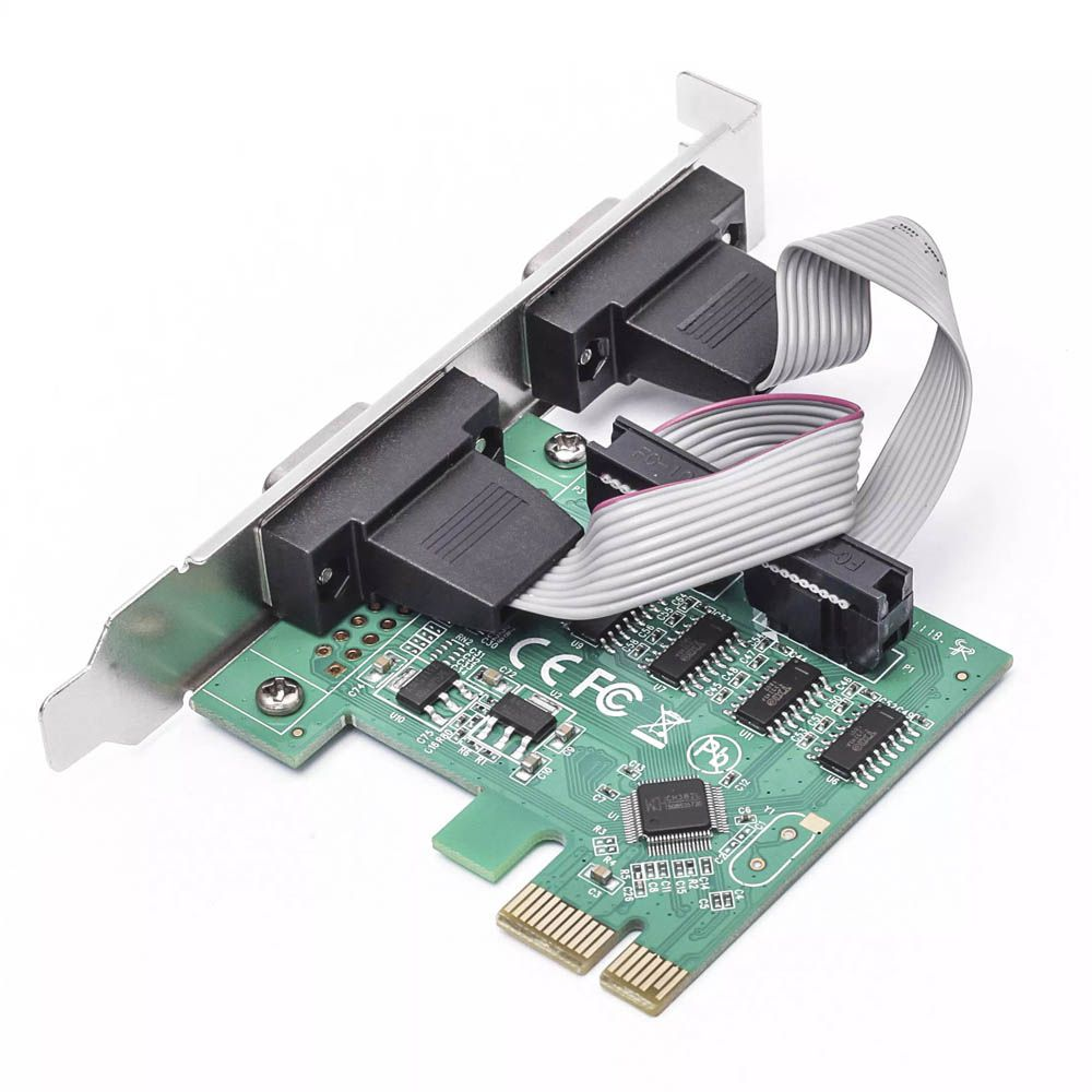 Placa Serial PCI Express - 2 Portas DB9 - RS232 RS485 RS422