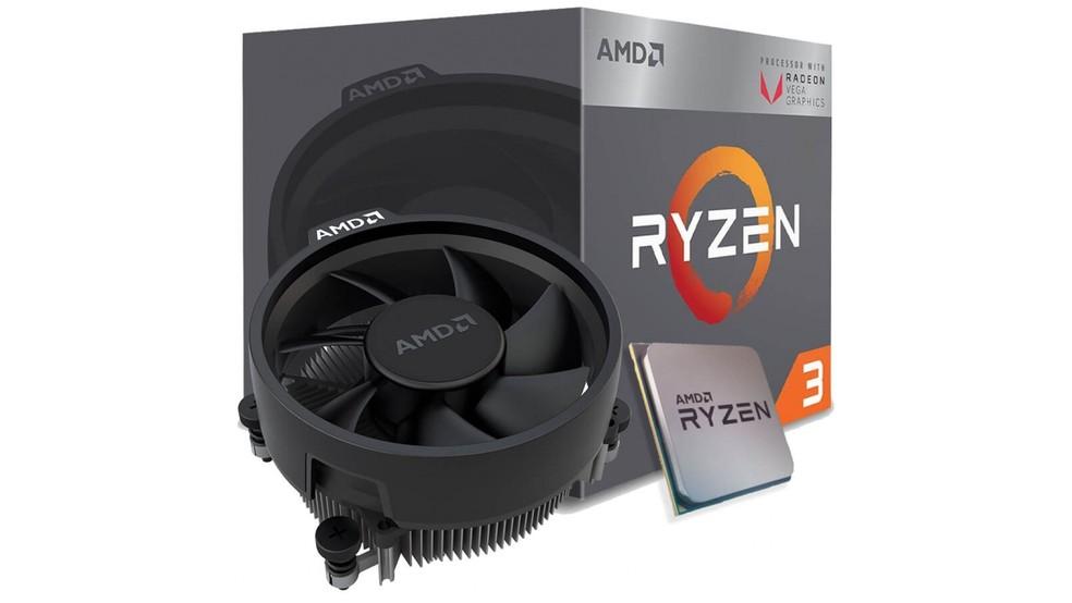 Processador Quad Core 1ª Geração com Radeon 2200G - AMD Ryzen