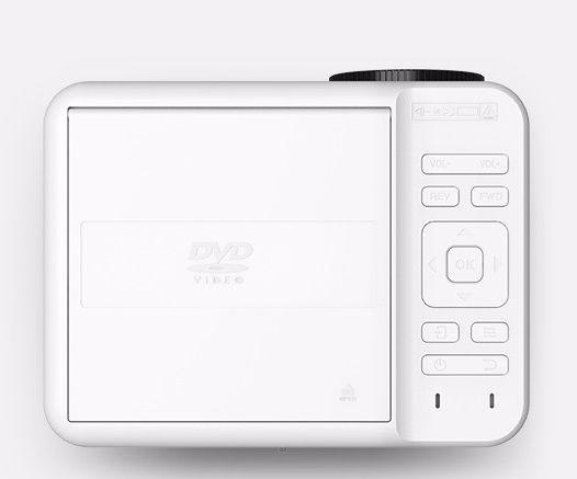 Projetor LED 700 Lum - DVD - HDMI - VGA - USB MicroSD