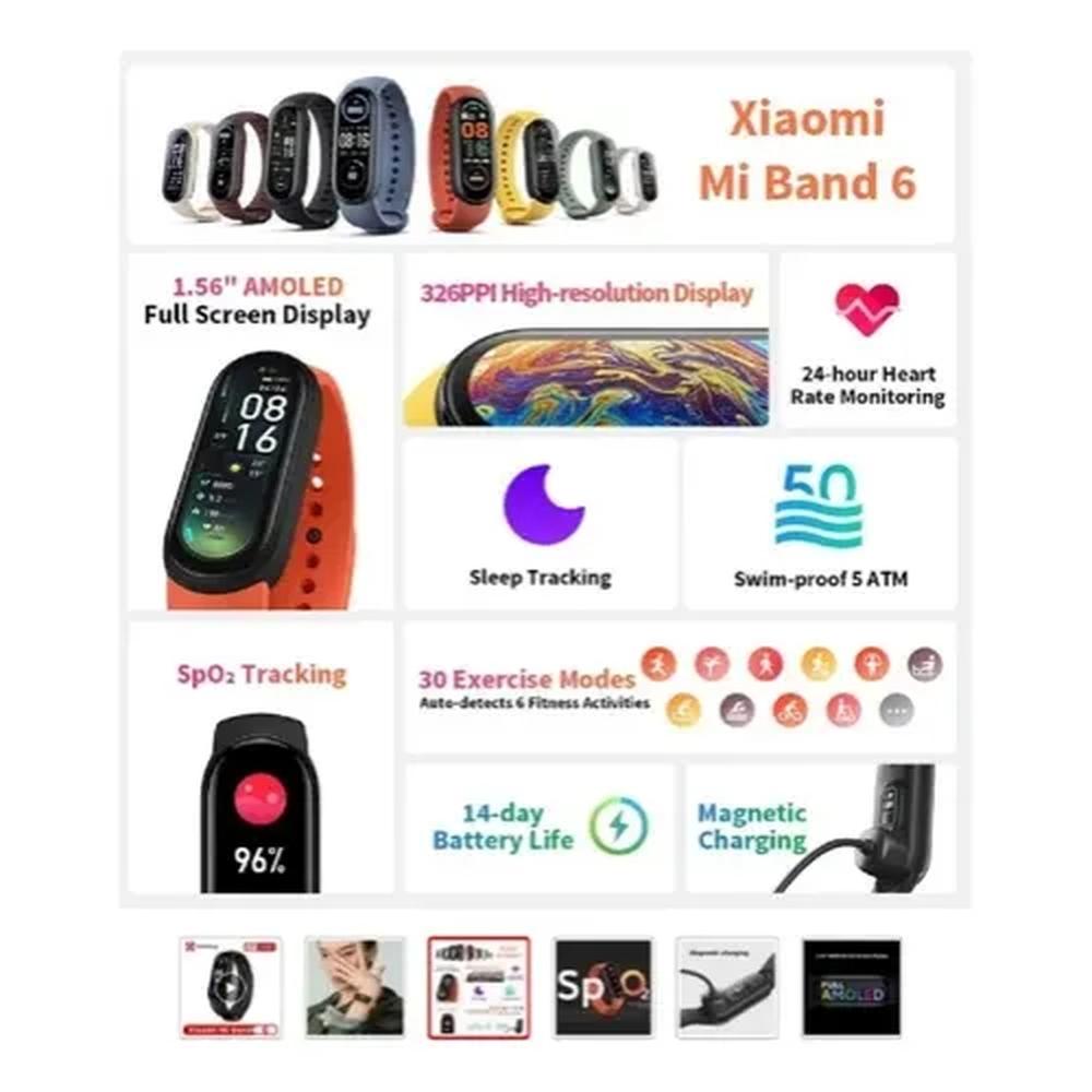 Pulseira Xiaomi Mi Band 6 Relogio Smartwatch