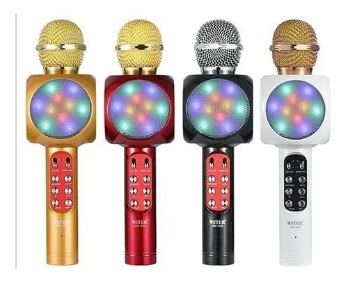 Microfone Sem Fio Bluetooth Karaokê Led Lelong Le 915