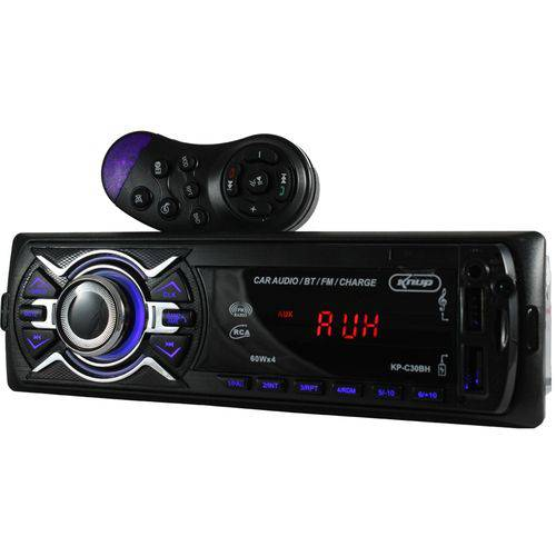 Rádio Automotivo Bluetooth 60w X4 Usb Sd Aux Quick Charger Kp-c30bh