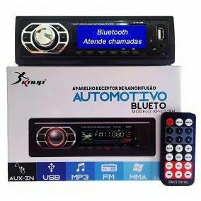 Rádio Automotivo USB Mp3 Auxiliar Player Bluetooth KP-C17BH KNUP
