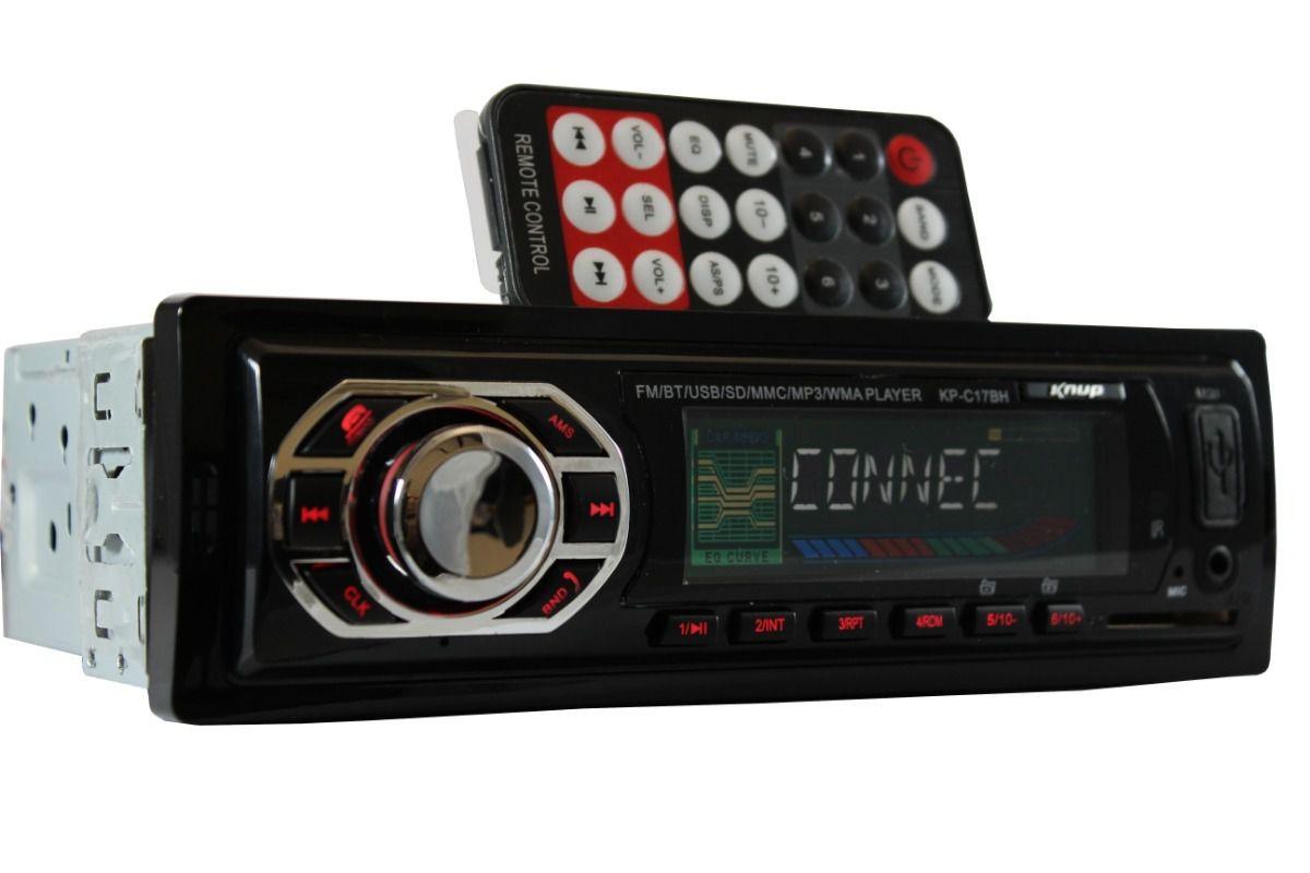 Rádio Automotivo USB Mp3 Auxiliar Player Bluetooth KP-C17BH KNUP
