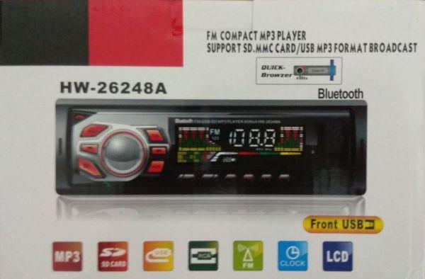 Som Automotivo Mp3 Player Usb Sd Mmc Fm Auxiliar Hw-26248