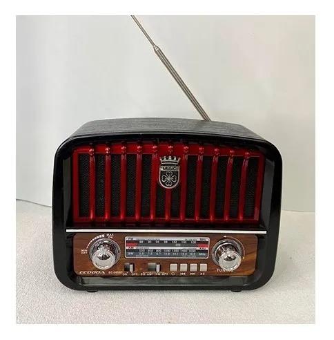 Rádio Retrô Bluetooth Fm/am/usb/sd Ecooda Ec-009bt