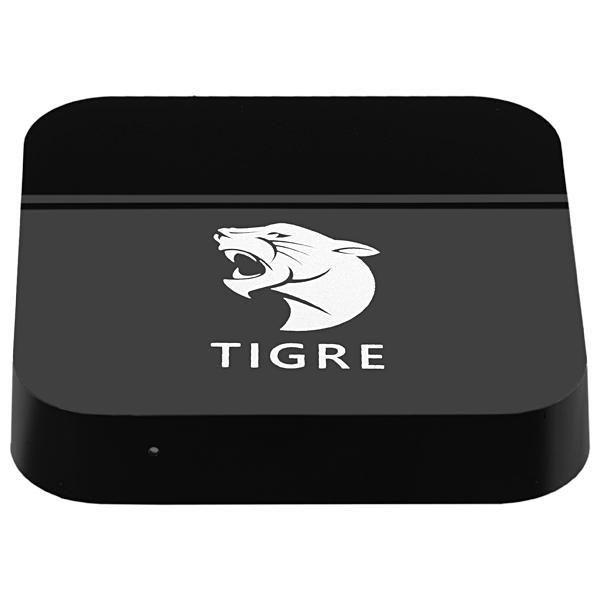 Tigre TV Box Receptor FTA - 4K Ultra HD com WI-Fi - Bluetooth - Preto