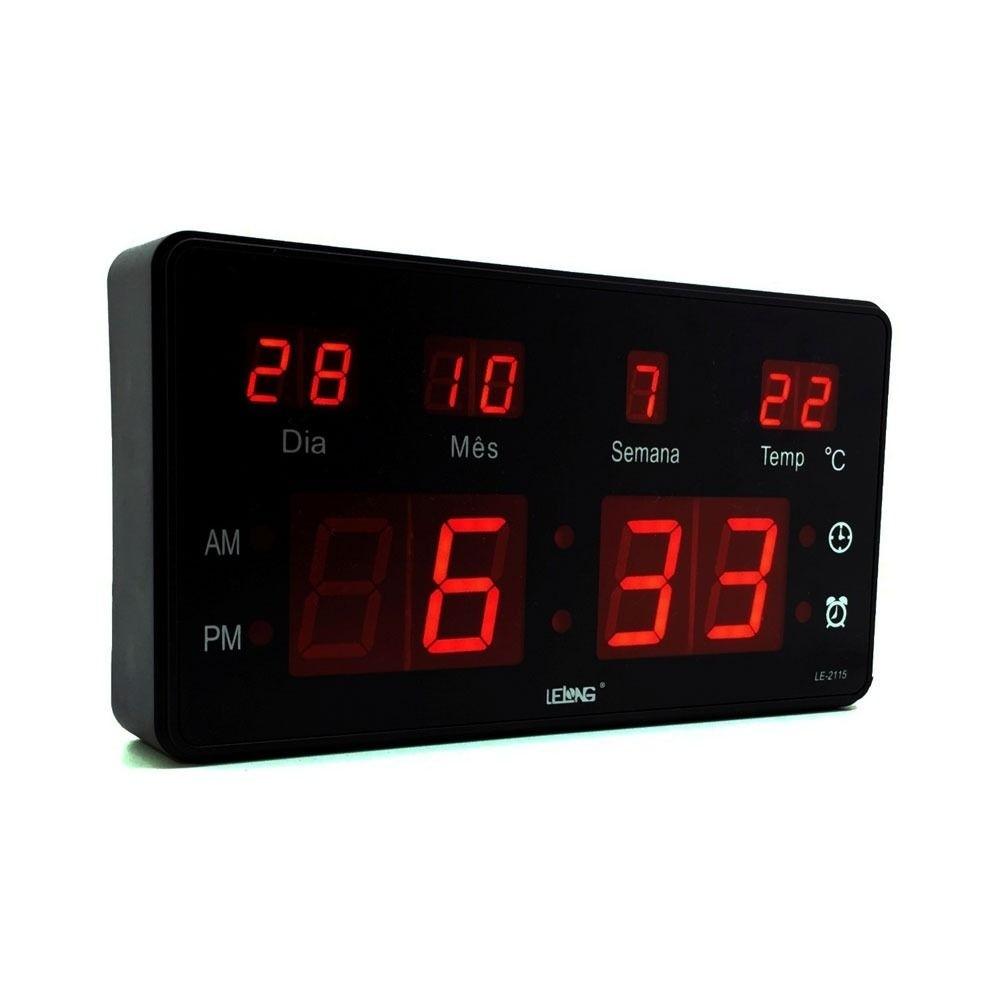 Relógio De Parede Digital Lelong Le2114