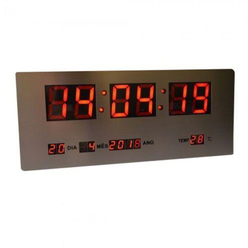 Relógio de Parede Painel Digital 52X20 cm Tamanho Grande
