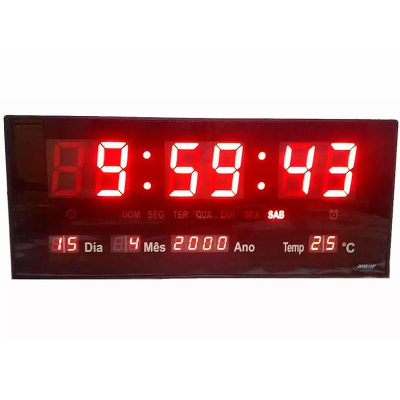 Relógio de Parede Digital LE-2112 - Lelong