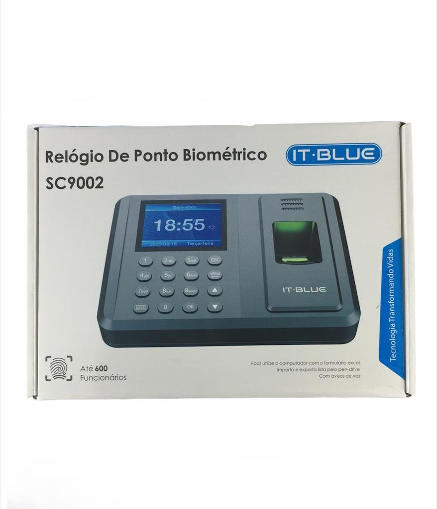 Relógio Ponto Biométrico Digital It Blue