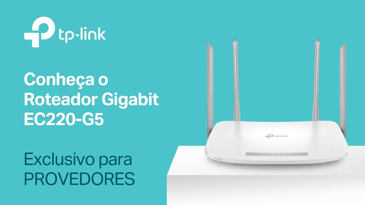 Roteador Wireless AC1200 Gigabit Dual Band EC220-G5 - TP-Link