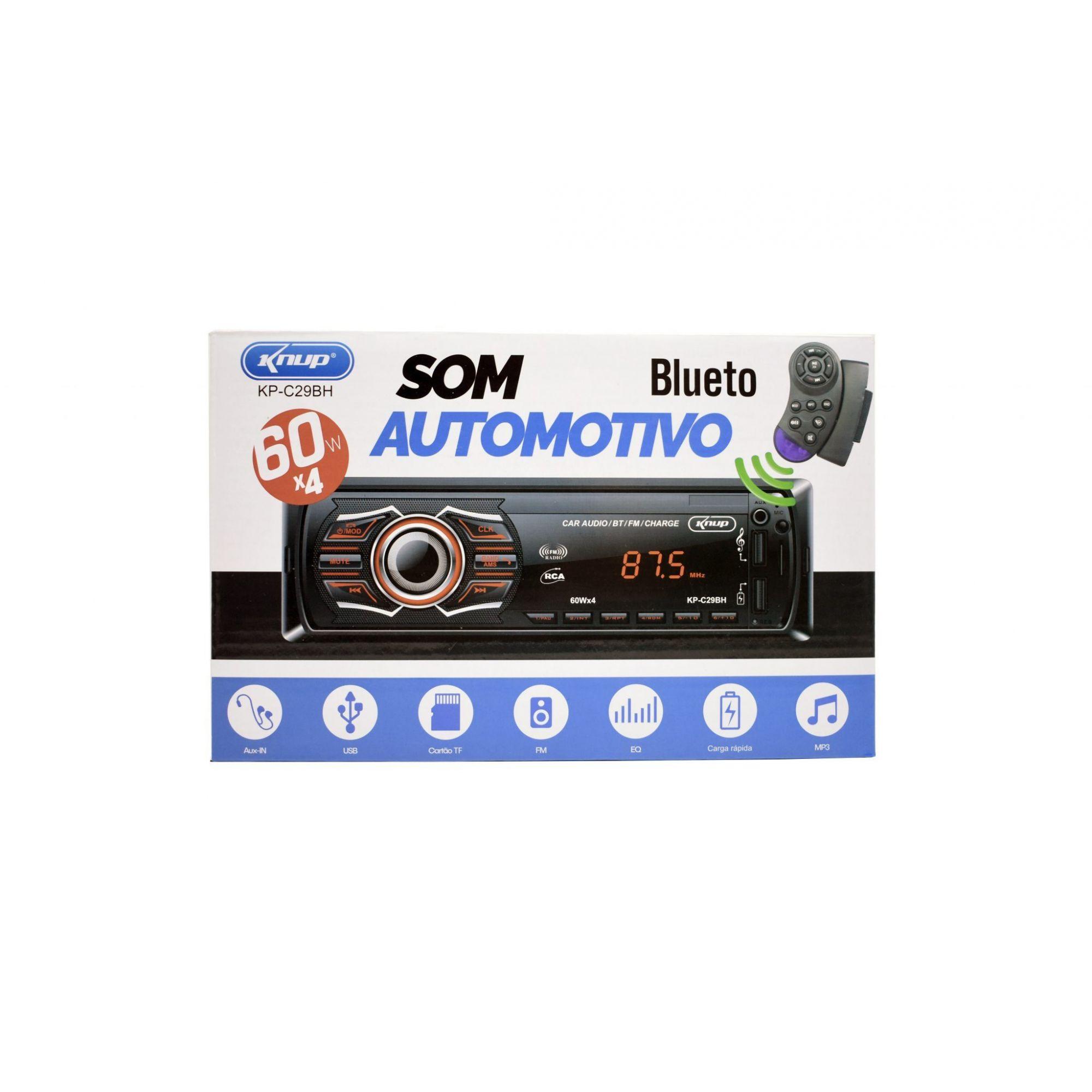 Som Automotivo Com Bluetooth Kp-c29bh - Knup