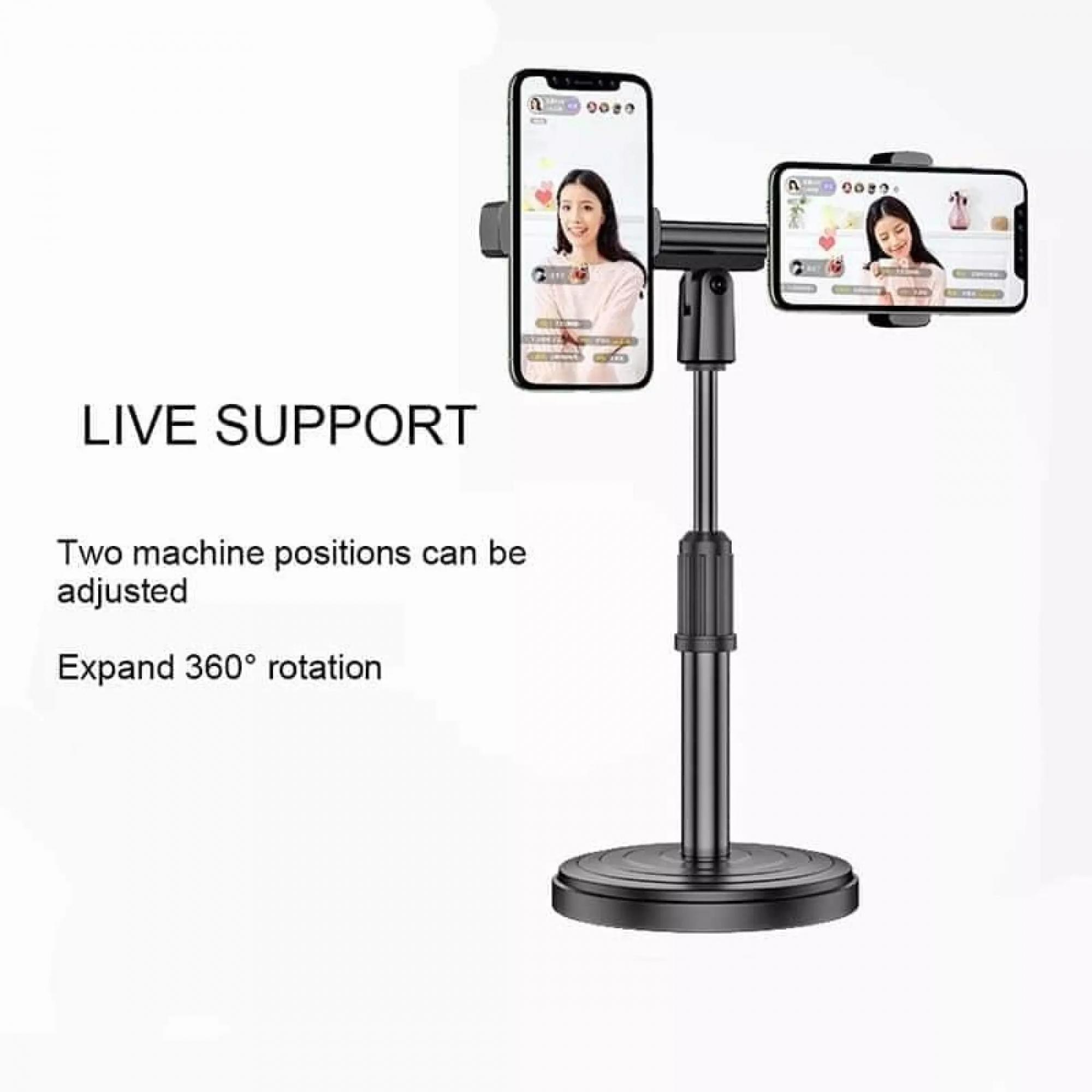Suporte ajustável  duplo para celular  Mobile Phone Holder WS-811